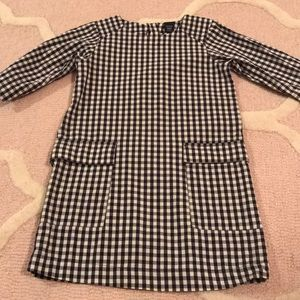Gap gingham plaid navy dress